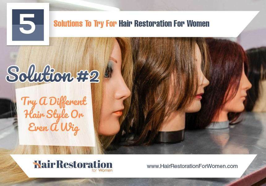 start a new health regimen to reduce hair loss
